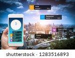 navigation information... | Shutterstock . vector #1283516893