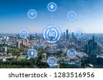 5g network wireless systems and ... | Shutterstock . vector #1283516956
