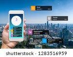 navigation information... | Shutterstock . vector #1283516959