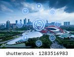 5g network wireless systems and ... | Shutterstock . vector #1283516983