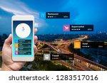 navigation information... | Shutterstock . vector #1283517016