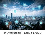 5g network wireless systems and ... | Shutterstock . vector #1283517070