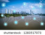 5g network wireless systems and ... | Shutterstock . vector #1283517073