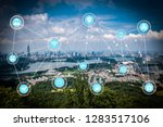5g network wireless systems and ... | Shutterstock . vector #1283517106