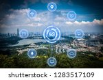 5g network wireless systems and ... | Shutterstock . vector #1283517109