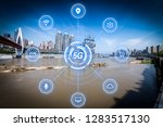 5g network wireless systems and ... | Shutterstock . vector #1283517130