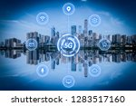 5g network wireless systems and ... | Shutterstock . vector #1283517160