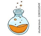 jar with orange liquid and... | Shutterstock .eps vector #1283518549
