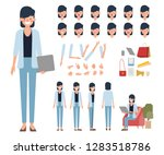 businesswoman character for... | Shutterstock .eps vector #1283518786