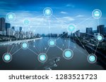 5g network wireless systems and ... | Shutterstock . vector #1283521723