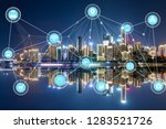 5g network wireless systems and ... | Shutterstock . vector #1283521726