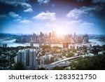 blue tone city scape  | Shutterstock . vector #1283521750