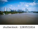 blue tone city scape  | Shutterstock . vector #1283521816