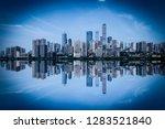 blue tone city scape  | Shutterstock . vector #1283521840