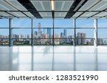 panoramic skyline and buildings ...   Shutterstock . vector #1283521990