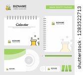 chemical flask  logo  calendar... | Shutterstock .eps vector #1283522713