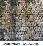 wall of stones old texture... | Shutterstock . vector #1283522983