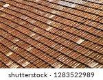 clay roof tiles ceramic... | Shutterstock . vector #1283522989