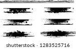 grunge paint stripe . vector... | Shutterstock .eps vector #1283525716