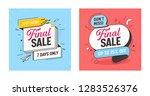 final sale discount offer... | Shutterstock .eps vector #1283526376