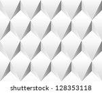 white volumetric abstract... | Shutterstock .eps vector #128353118