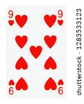 nine of hearts playing card  ... | Shutterstock . vector #1283533123