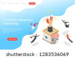 flat isometric vector landing... | Shutterstock .eps vector #1283536069
