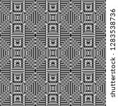 monochrome geometric shapes and ...   Shutterstock .eps vector #1283538736