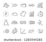 set of speed icon  such as ... | Shutterstock .eps vector #1283544283