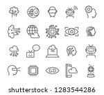 set of technology icon set ... | Shutterstock .eps vector #1283544286