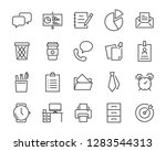 set of office icons  such as... | Shutterstock .eps vector #1283544313