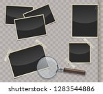 retro photo frames with... | Shutterstock .eps vector #1283544886