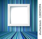 empty room with white photo... | Shutterstock .eps vector #128354594