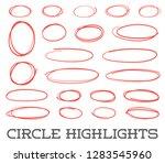 highlight circles set. vector... | Shutterstock .eps vector #1283545960