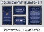 great christmas invitation in... | Shutterstock .eps vector #1283545966