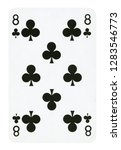 eight of clubs playing card  ... | Shutterstock . vector #1283546773