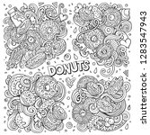 line art vector hand drawn... | Shutterstock .eps vector #1283547943