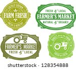 vintage style farmer's market...   Shutterstock .eps vector #128354888