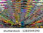 abstract digital fractal ...   Shutterstock . vector #1283549290