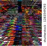 abstract digital fractal ...   Shutterstock . vector #1283549293