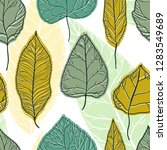 leaves graphic seamless pattern.... | Shutterstock .eps vector #1283549689