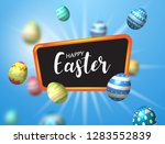 happy easter day background | Shutterstock .eps vector #1283552839