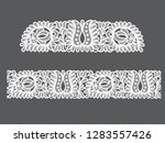 seamless lace flowers... | Shutterstock .eps vector #1283557426