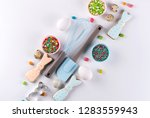 easter spring decorative... | Shutterstock . vector #1283559943