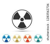radioactive icon isolated on...   Shutterstock . vector #1283562736