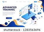 modern flat design isometric... | Shutterstock .eps vector #1283563696