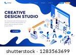 modern flat design isometric... | Shutterstock .eps vector #1283563699