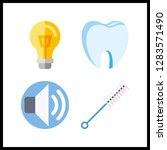 4 turn icon. vector... | Shutterstock .eps vector #1283571490