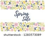 vector illustration of spring... | Shutterstock .eps vector #1283573089