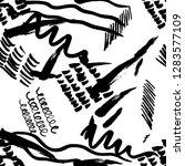 seamless pattern hand drawn... | Shutterstock .eps vector #1283577109